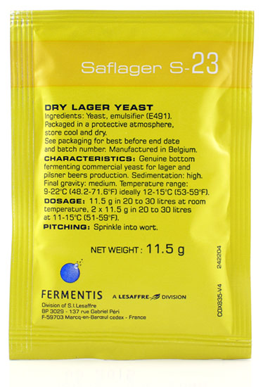 Saflager S-23 Dry Lager Yeast - 11.5gm