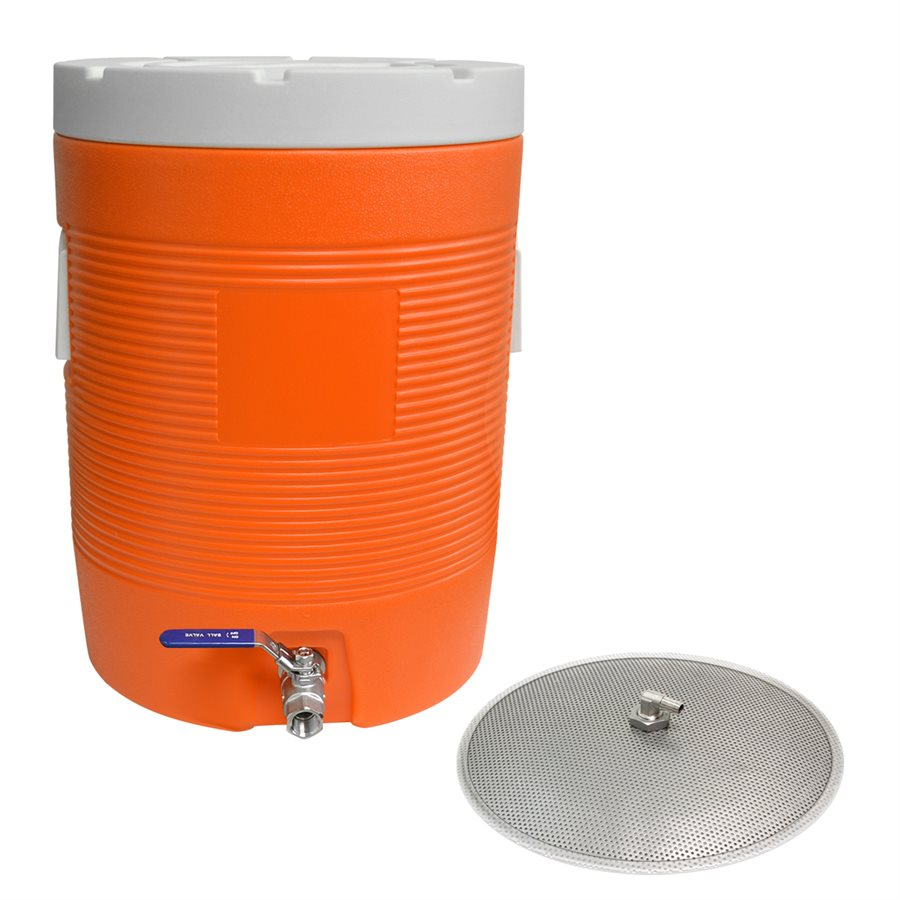 Mash Tun Cooler with False Bottom - 11.5 Gal - 43.5L
