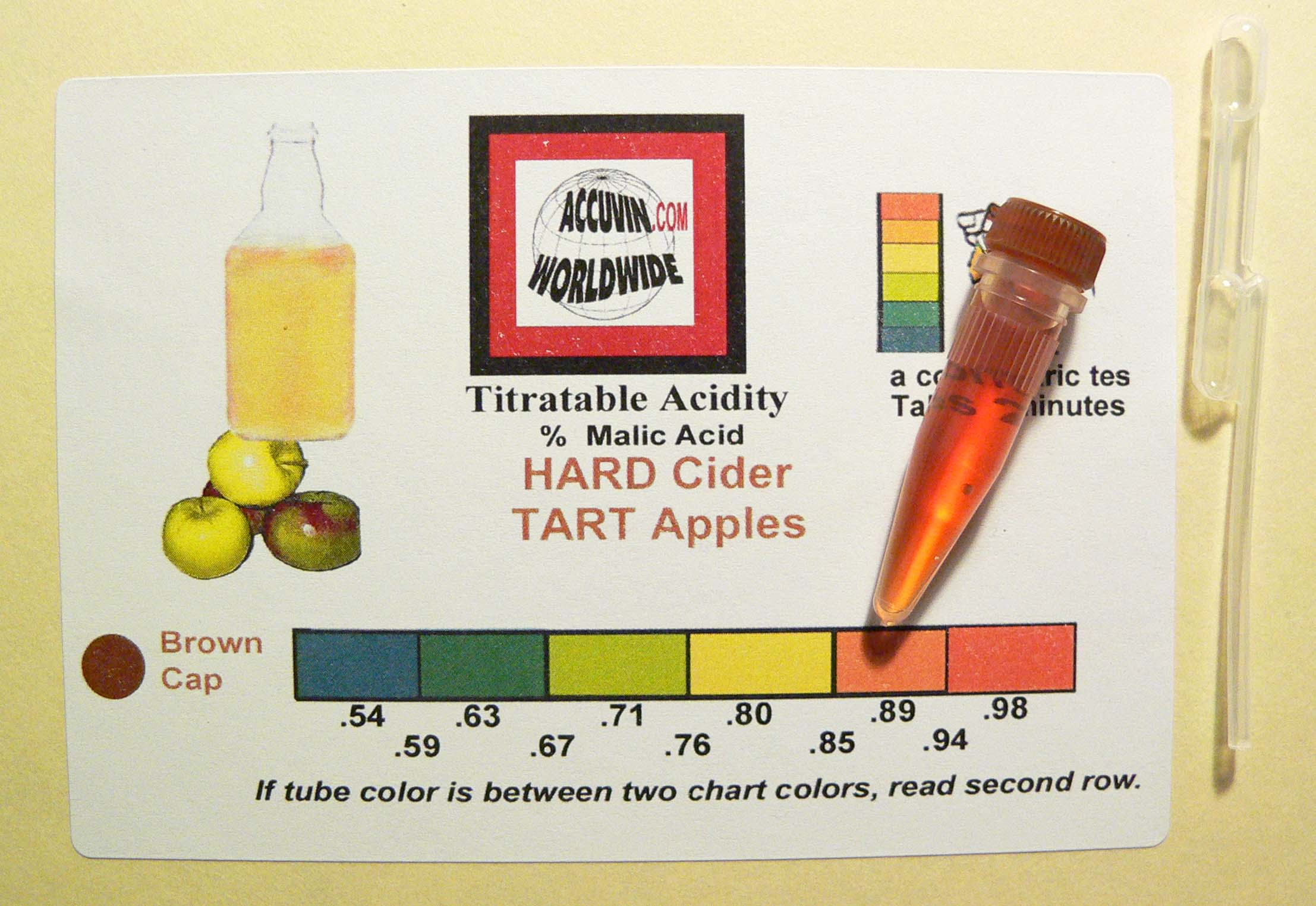 Accuvin Hard Cider Tart Apple TA Test Kit 10pk