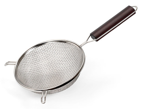 Strainer stainless steel with plastic handle, fine