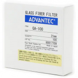 Filter Paper - 1um, 47mm, Advantec Glass Fiber Filter GA-100. Pack of 100