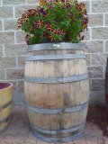Decorative French Wooden Oak Barrel - NOT FOR WINE